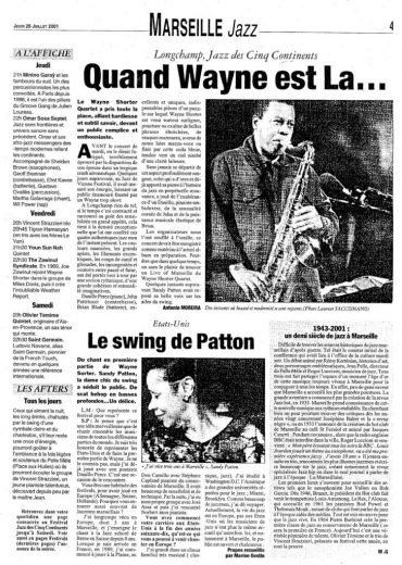FRENCH REVIEWS Opening for Wayne Shorter Marseille